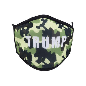 Camo Trump Screen Print Mask - One Size Fits Most