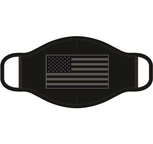 American Flag in Grayscale Screen Print Mask - One Size Fits Most