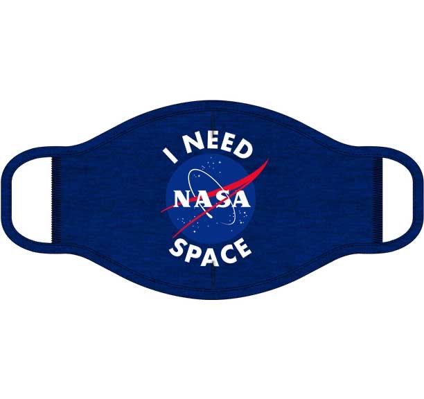 I Need Space NASA Screen Print Mask - One Size Fits Most