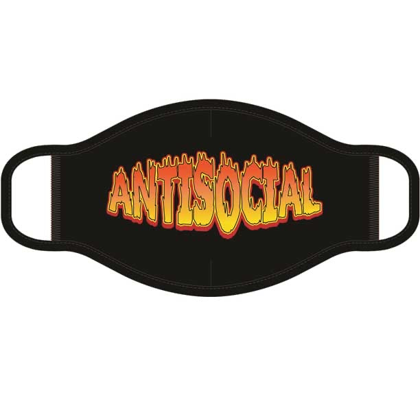 Antisocial Screen Print Mask - One Size Fits Most