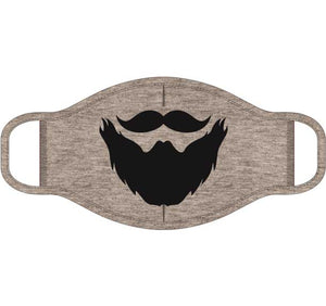 Mustache and Beard Screen Print Mask - One Size Fits Most