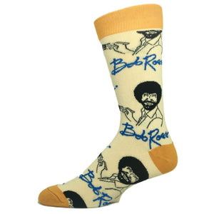 It's Bob Ross Sock in Tan by Oooh Yeah Socks - The Sock Spot