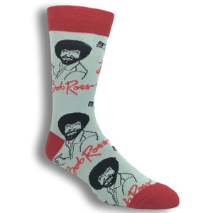 It's Bob Ross Socks in Grey by Oooh Yeah Socks - The Sock Spot