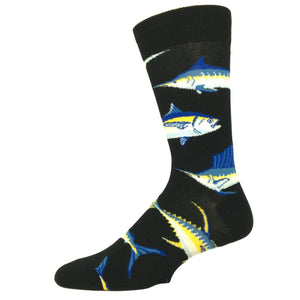 Just for Sport Fishing Socks in Black by SockSmith - The Sock Spot