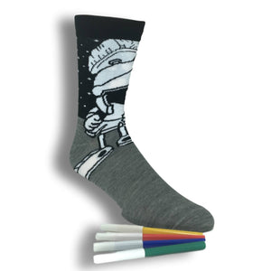 Looney Tunes Marvin The Martian Color Yourself Socks