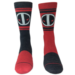 Marvel Deadpool Flipped Colors Athletic Superhero Socks - The Sock Spot