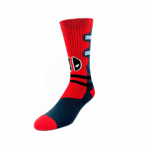 Marvel Deadpool Suit Up Athletic Superhero Socks