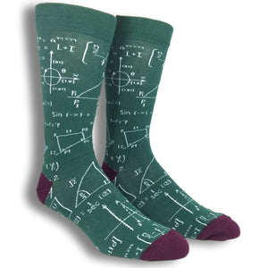 Math Equations Socks by K.Bell - The Sock Spot