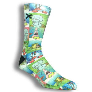 Nickelodeon SpongeBob SquarePants Memes Printed Cartoon Socks by Odd Sox - The Sock Spot