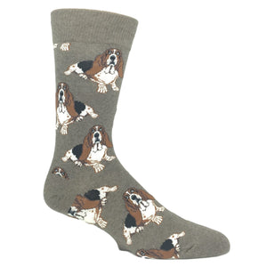 Nothing But A Hound Dog Socks in Brown by SockSmith - The Sock Spot