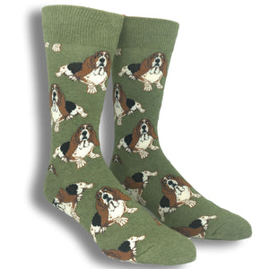 Nothing But A Hound Dog Socks in Green by SockSmith - The Sock Spot