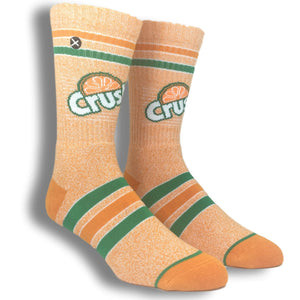 Orange Crush Logo Socks By Odd Sox