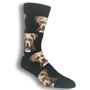 Pit Bull Face Socks in Black by SockSmith - The Sock Spot