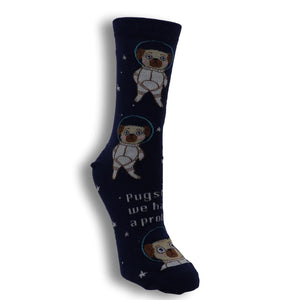 Pugston, We Have a Problem Women's Socks by Sock it to Me - The Sock Spot