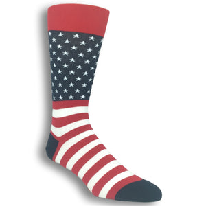 Red White and Blue Flag Socks by Hot Sox - The Sock Spot