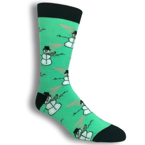 Rollin' With the Snowmies Socks by Oooh Yeah Socks - The Sock Spot