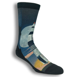 Saturn V Rocket Launch Printed Socks by Good Luck Sock - The Sock Spot
