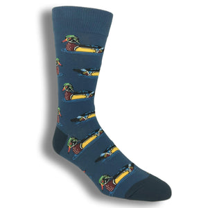 Sitting Duck Socks in Blue by SockSmith - The Sock Spot