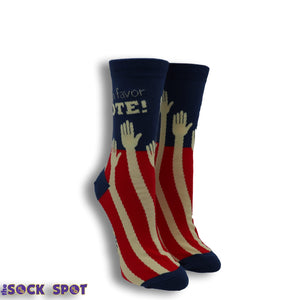 Sock the Vote Women's Socks by Sock it to Me - The Sock Spot
