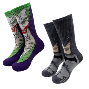 Socks - 2 Pair Pack Batman And Joker Athletic Socks