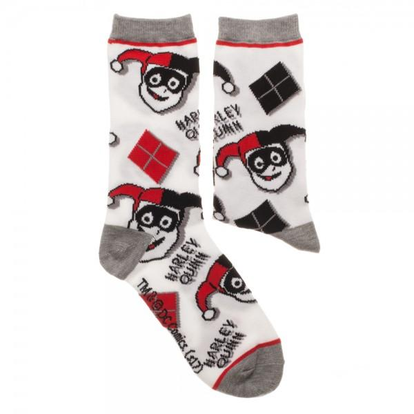2 Pair Pack DC Comics Harley Quinn Socks - The Sock Spot