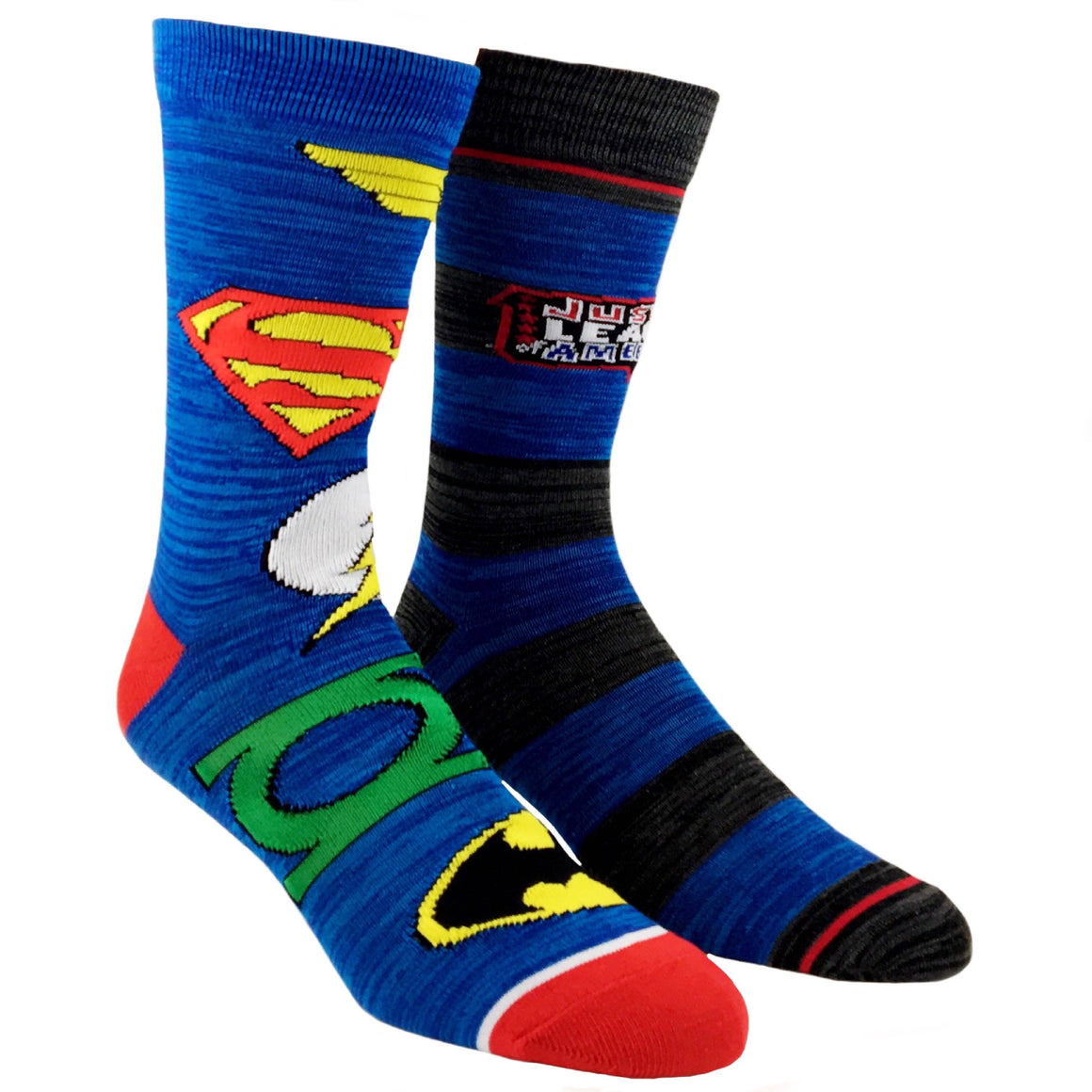 2 Pair Pack DC Comics Justice League of America Superhero Socks - The Sock Spot