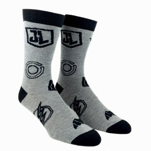 2 Pair Pack DC Comics Justice League Superhero Socks - The Sock Spot
