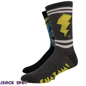2 Pair Pack DC Comics Shazam Socks - The Sock Spot