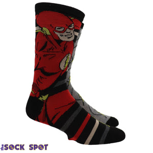 2 Pair Pack DC Comics The Flash Socks - The Sock Spot