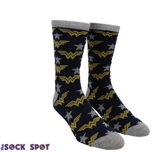 2 Pair Pack DC Comics Wonder Woman Socks - The Sock Spot