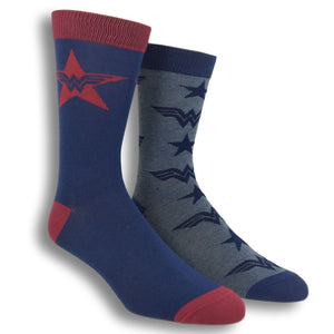2 Pair Pack DC Comics Wonder Woman Superhero Socks - The Sock Spot