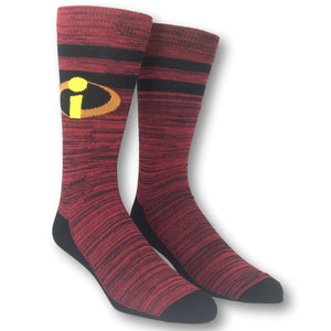 2 Pair Pack Disney Pixar The Incredibles Team Incredibles Socks - The Sock Spot
