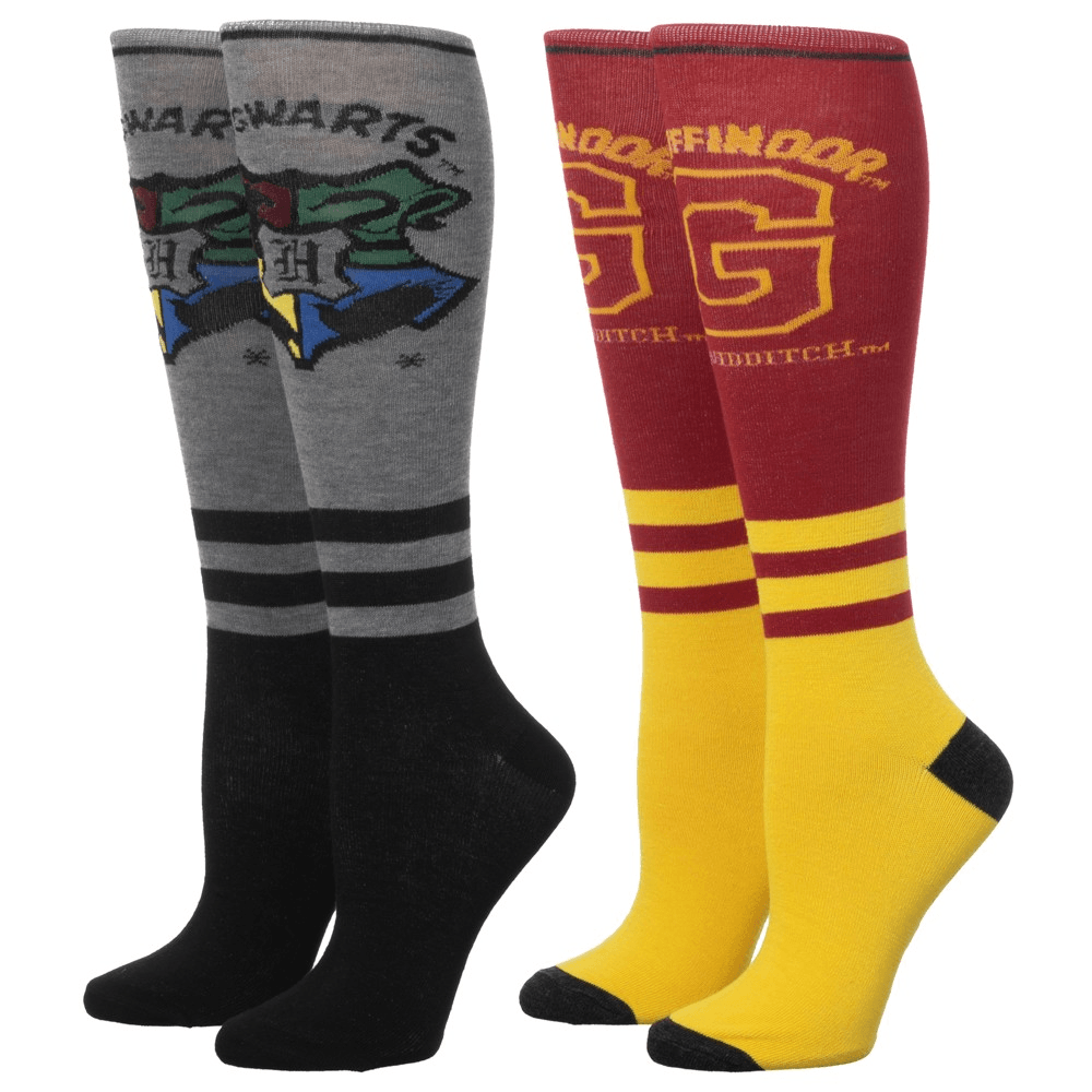 2 Pair Pack Gryffindor Knee High Harry Potter Socks - The Sock Spot