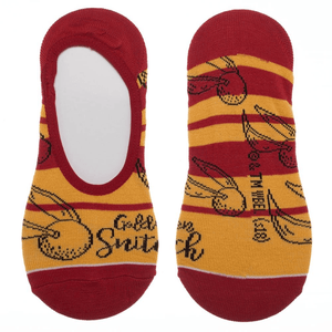 2 Pair Pack Golden Snitch and Deathly Hallows Harry Potter No Show Liner Socks - The Sock Spot