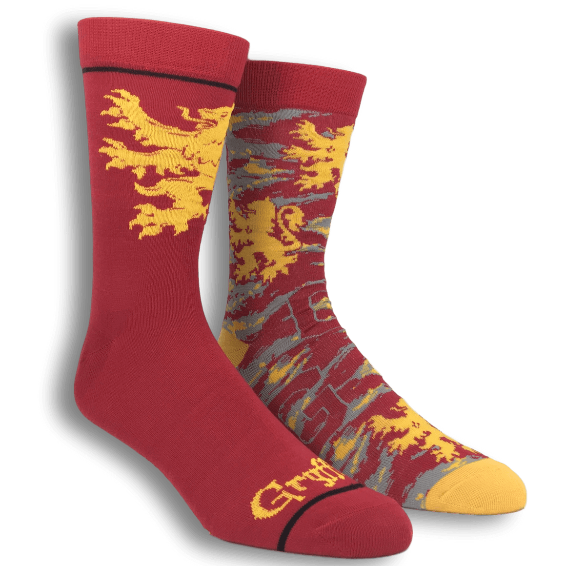 2 Pair Pack Gryffindor Harry Potter Socks - The Sock Spot