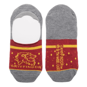 2 Pair Pack Harry Potter Hogwarts and Gryffindor No Show Liner Socks - Small - The Sock Spot