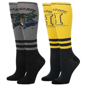 2 Pair Pack Hufflepuff Knee High Harry Potter Socks - The Sock Spot