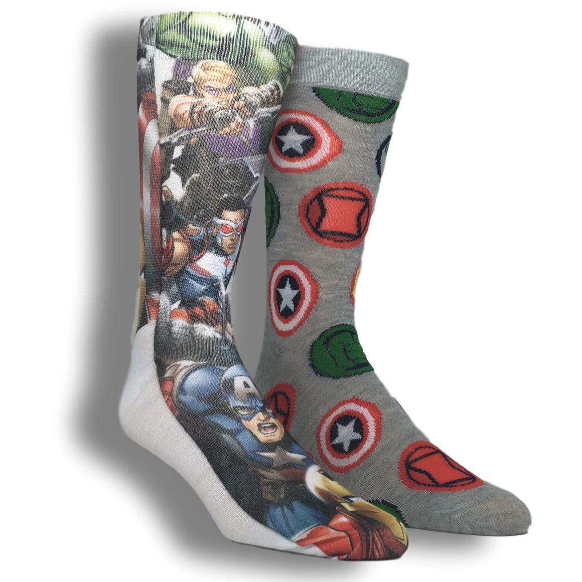 2 Pair Pack Marvel Avengers Superhero Socks - The Sock Spot