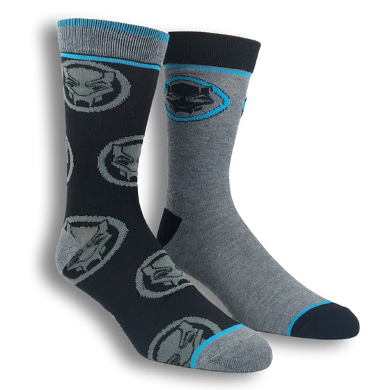 2 Pair Pack Marvel Black Panther Superhero Socks - The Sock Spot