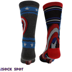 2 Pair Pack Marvel Captain America Shield Socks - The Sock Spot