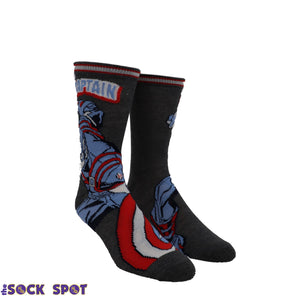 2 Pair Pack Marvel Captain America Socks - The Sock Spot