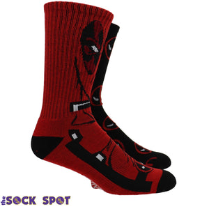 2 Pair Pack Marvel Deadpool Athletic Socks - The Sock Spot