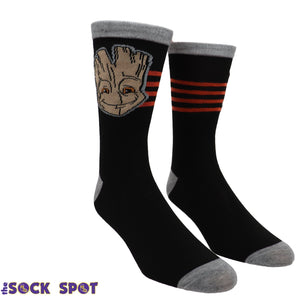 2 Pair Pack Marvel Groot Guardians of the Galaxy Socks - The Sock Spot