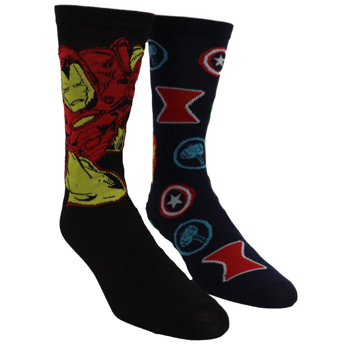 2 Pair Pack Marvel Iron Man Avengers Socks - The Sock Spot