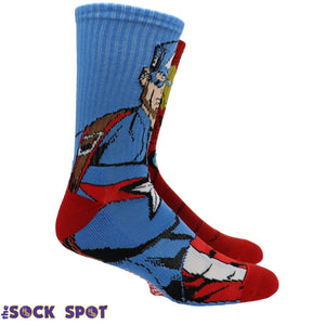 2 Pair Pack Marvel Iron Man Captain America Athletic Socks - The Sock Spot