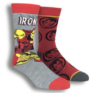 2 Pair Pack Marvel Iron Man Superhero Socks - The Sock Spot