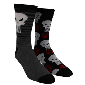 2 Pair Pack Marvel Punisher Socks - The Sock Spot