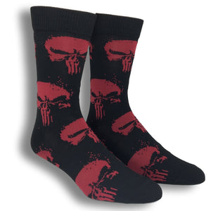 2 Pair Pack Marvel Punisher Superhero Socks - The Sock Spot