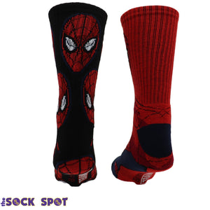 2 Pair Pack Marvel Spider-Man Athletic Socks - The Sock Spot