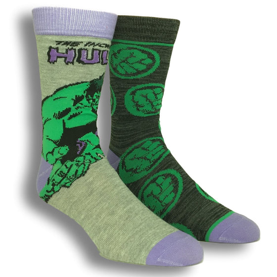 2 Pair Pack Marvel The Hulk Superhero Socks - The Sock Spot